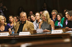 Glen Campbell and daughter Ashley testifying at Senate Special Committee Hearing